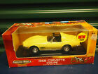ERTL Diecast American Muscle 1968 Corvette Coupe 50th Anniversary yellow 1 18