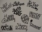 10 BIRTHDAY sentiments for greeting card scrapbook die cuts 2