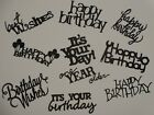 10 BIRTHDAY sentiments for greeting card scrapbook die cuts 3
