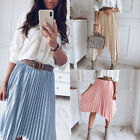 Fashion Women Boho Chiffon Midi Dress Beach Casual Sundress Elastic Waist Skirt