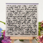 Literal Rubber Clear Stamp Cling Seal Scrapbooking Diary Card DIY Decor CrafJHV