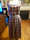 Depeche Mode check plaid multicolor 100% cotton sleeveless soft dress size 12