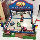 Lemax Village Carnival Crazy Cars Original Box, Adapter, Instructions Works