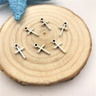 Mixed set of 8 New Tiny CROSS Charms Tibetan Silver Alloy TWO each FREE SHIPPING