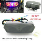 12V Motorcycle Refit Taillight Brake Rear LED License Plate Lamps Fit For MSX125