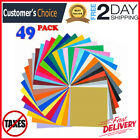 49 Pack 12 x 12 Self Adhesive Vinyl Sheets Colors Cricut Silhouette Cameo Decal