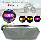 1*Motorcycle Refit LED Rear Tail Light Turn Signal Brake Light LED License Plate