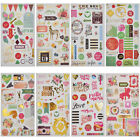 Love Stickers Scrapbooking Happy Planner DIY Crafts Card Journaling Project