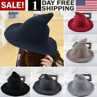 US Modern Witch Hat Made From High Quality Sheep Wool Halloween Party Witch Hat