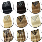 CLEARANCE Any Color Clip in 100% Remy Human Hair Extensions Full Head Highlight