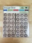 Image Tree Rubber Stamps 36 Alphabet Numbers ABC 123 Typewriter Style