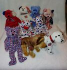 Beanie Baby Lot of 9 Spangle America Courage Rescue Glory etc All tag protected