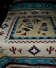 Kokopelli Southwestern Geometric Pattern Cactus Native Quilt Bedding F Q 87x88