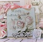Shabby Chic Vintage Country Cottage style Wall Decor Sign Take Time to Stop