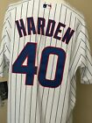 Chicago Cubs Harden Authentic Jersey Size 52 White With Blue Stripes Sale!!!!