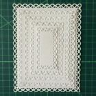 Nested Stitched Scallop RectangleMetal Cutting Dies DIY Etched Paper Card Make M