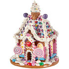 RAZ Imports 575 Lighted Gingerbread House Lollipops Christmas NEW 3919189