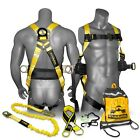 Kwiksafety Hurricane Safety Harness Ansi Fall Protection 3d Ring Back Support
