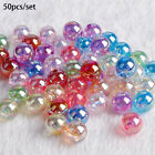 DIY Acrylic Bead Jewelry Making Loose Spacer Beads With Hole For 50pcs