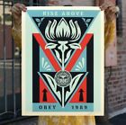 Obey Deco Flower Black Print Signed and Numbered LE 300 IN HAND