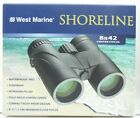 NEW West Marine Shoreline 8 x 42 Compact Rubber Armored Waterproof Binoculars