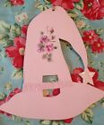 Hand Painted Shabby roses Witches hat Fall Halloween hp pink roses cottage chic