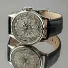 Patek Philippe movement SWISS Hand Engraved Silver Dial Skeleton 43,2 mm