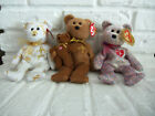 Lot of 3  TY Signature beanie Baby bears  2001  2004  2005  VGC pre own