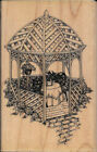 GARDEN GAZEBO Rubber Stamp NEW UNINKED Wood Mounted Stampendous