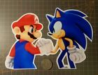 Mario and Sonic Sticker Super Mario Bros and Sonic The Hedgehog