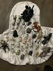 MIXED ACTION FIGURE LOT of Vintage Figures  Weapons Star Wars Galactica etc