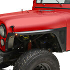 Front Fender with Flair and LED Eagle Lights Fit for 76 86 Jeep Wrangler CJ