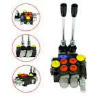 2 Spool Hydraulic Directional Control Valve Manual Operate 13GPM 3600PSI