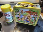1970s Vintage MICKEY MOUSE CLUB metal LUNCH BOX and THERMOS Disney