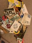 Junk Drawer Box Lot Mixed Assorted Vintage Stuff Collectibles Cards Coins