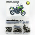 For Kawasaki Versys 650 2010-2014 Complete Fairing Bolts Bodywork Screw Nuts Kit