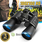 180x100 High Power Military Binoculars Day Night BAK4 Optics Hunting Camping+Bag