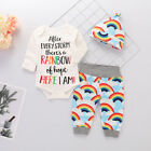 Newborn Infant Baby Girl Boy Clothes Jumpsuit Romper Bodysuit +Pants Outfits Set