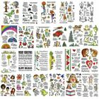 Christmas Halloween Transparent Clear Silicone Stamp Seals for DIY Scrapbooking