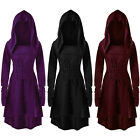 Womens Vintage Victorian Renaissance Gothic Dress Medieval Dress Costume Hooded
