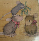 House Mouse Mistletoe Moments Wood Mount Rubber Stamp Family Stampabilities 2003