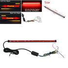 45CM Motorcycle Switchback Flowing LED Turn Signal Brake Light Stripe Taillight