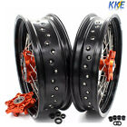 3.5*17 /4.5*17 CUSH DRIVE SUPERMOTO WHEEL SET FIT KTM690 SMC ENDURO R 08-11