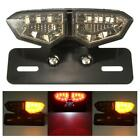 Motorcycle Brake Tail Turn Signal License Plate Integrated Smoke LED Light New