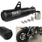 Motorcycle Exhaust Muffler Pipe Sliencer Stainless Steel + Mounting Accessories