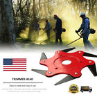 Outdoor Trimmer Head 6 Steel Blades Razors 65Mn Lawn Mower Grass Weed Cutter New