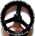 WHITE BLACK GP STYLE CUSTOM RIM STRIPES WHEEL DECALS TAPE STICKERS YAMAHA YZF R6