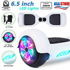 65 Hoover board Two LED Flash Wheels Balance Electric Scooter Chrome US