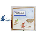 Sledding Mouse Metal Cutting Dies Stencil For Scrapbooking Paper Cards Crafts