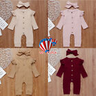 Newborn Baby Girl Boy 2PCS Autumn Clothes Set Knitted Romper Jumpsuit Outfits US